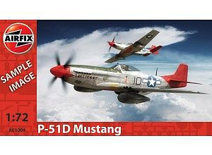 Airfix P-51D Mustang -- Plastic Model Airplane Kit -- 1/72 Scale -- #01004
