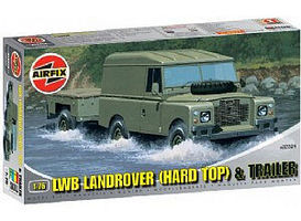Airfix LWB Hardtop Landrover w/Two-Wheeled Trailer Plastic Model Military Vehicle 1/76 #02324