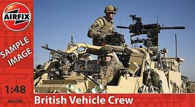 Airfix British Forces Vehicle Crew Plastic Model Military Figure 1/48 Scale #03702