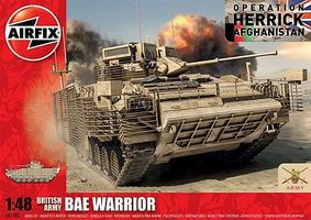 Airfix BAE Warrior Armored Vehicle (New Tool) Plastic Model Military Vehicle 1/48 Scale #07300