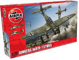 Airfix Junkers Ju87B1 Stuka Fighter Plastic Model Airplane Kit 1/72 Scale #3087