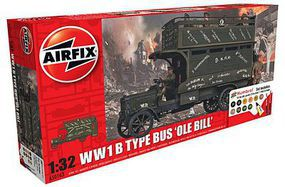 Airfix WWI B Type Old Bill Bus Gift Set Plastic Model Military Vehicle Kit 1/32 Scale #50163