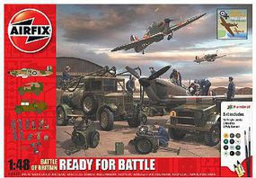 Airfix Battle of Britain Ready for Battle Plastic Model Military Diorama Kit 1/48 Scale #50172