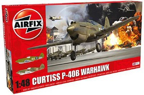 Airfix Curtiss P40B Fighter (New Tool) Plastic Model Airplane Kit 1/48 Scale #5130