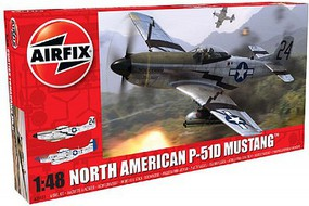 Airfix P51D Mustang Fighter Plastic Model Airplane Kit 1/48 Scale #5131