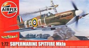 Airfix Supermarine Spitfire Mk Ia Fighter Plastic Model Airplane Kit 1/72 Scale #55100