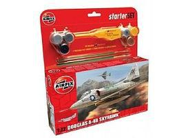 Airfix A4 Skyhawk Aircraft Medium Starter Set Plastic Model Airplane Kit 1/72 Scale #55203