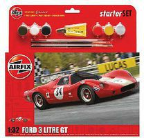 Airfix Ford 3 Litre GT Race Car Starter Set Plastic Model Car Kit 1/32 Scale #52308