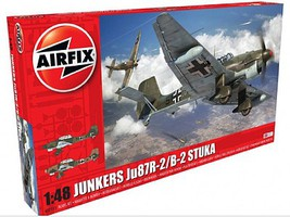 Airfix Junkers Ju87B2/R2 Bomber Plastic Model Airplane Kit 1/48 Scale #7115
