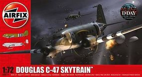 Airfix Douglas C47A/D Skytrain Military Transport Plastic Model Airplane Kit 1/72 Scale #8014
