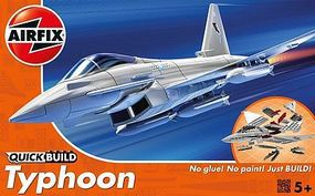 Airfix Typhoon Fighter Quick Build Snap Tite Plastic Model Aircraft Kit #j6002