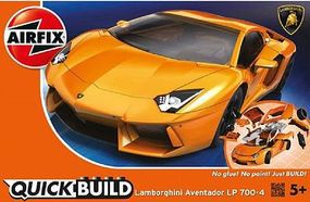 Airfix Lamborghini Aventador Car Quick Build Kit Snap Tite Plastic Model Vehicle #j6007