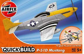 Airfix Mustang P51D Aircraft Quick Build Kit Snap Tite Plastic Model Aircraft #j6016