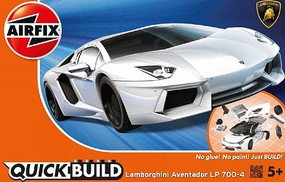 Airfix Quick Build Lamborghini Aventador Car (Snap) Snap Tite Plastic Model Vehicle #j6019
