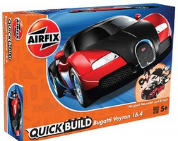 Airfix Quick Build Bugatti Veyron Car (Snap)