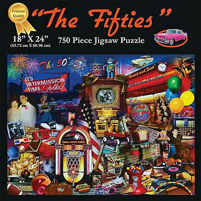 Americana Puzzles The 50S -- Jigsaw Puzzle 600-1000 Piece -- #70320