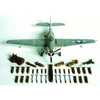 Accurate WWII Allied Armament w/Ground Service Equip Plastic Model Airplane Kit 1/48 Scale #539900