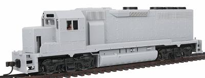 Atlas EMD GP40 w/Sound & DCC Undecorated -- HO Scale Model Train Diesel Locomotive -- #10000133