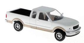 Atlas American Truck Ford F-150 Pickup Truck w/Standard Sides White & Tan - HO-Scale