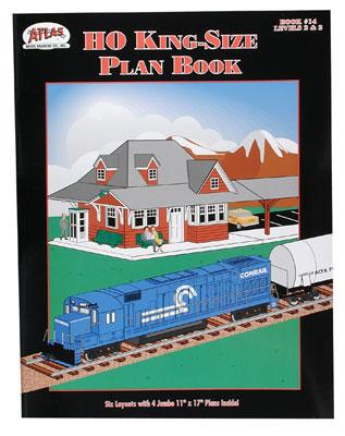Atlas Book -- Atlas HO King-Size Layout Book (Intermediated to Advanced Skill Levels) - HO-Scale