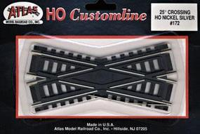 Atlas Code 100 25 Degree Crossing Track 4.25 CL N/S HO Scale Nickel Silver Model Train Track #172