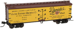 Atlas 40 Wood Reefer Schmidts Brewing NRC #3455 HO Scale Model Train Freight Car #20002726