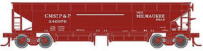 Atlas 70-Ton Hart Ballast Car Milwaukee Road #340857 HO Scale Model Train Freight Car #20002826