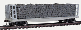 Atlas Pulpwood Flat Closed Undecorated HO Scale Model Train Freight Car #20002870