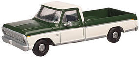 Atlas F-100 Pickup Green/White HO Scale Model Railroad Vehicle #20003753