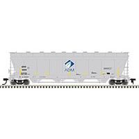 Atlas Covered Hopper ADM #50058 HO Scale Model Train Freight Car #20003756