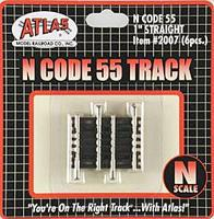 Atlas Code 55 1 Straight Track (3) N Scale Nickel Silver Model Train Track #2007