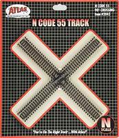 Atlas Code 55 Track 90 Degree Crossing N Scale Nickel Silver Model Train Track #2045