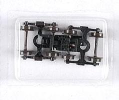 Atlas (bulk of 12) Roller Bearing Trucks w/Rapido Couplers (2) N Scale Model Train Parts #22055
