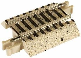 Atlas True-Track Roadbed 1 Straight (4) N Scale Nickel Silver Model Train Track #2405