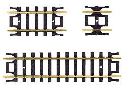 Atlas Code 80 Straight Track Assortment (10) -- N Scale Nickel Silver Model Train Track -- #2509