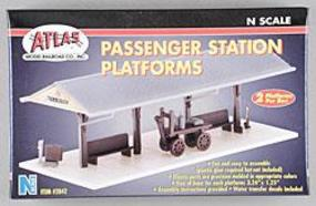 Atlas Passenger Station Platform Kit (2) N Scale Model Railroad Trackside Accessory #2842