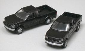 Atlas American Trucks - Ford F-150 Standard Side Pickup - 2-Pack Black - N-Scale (2)