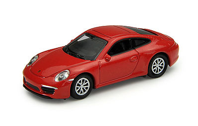 Atlas Porsche 911 Carrera S Red -- HO Scale Model Railroad Roadway Vehicle -- #30000095