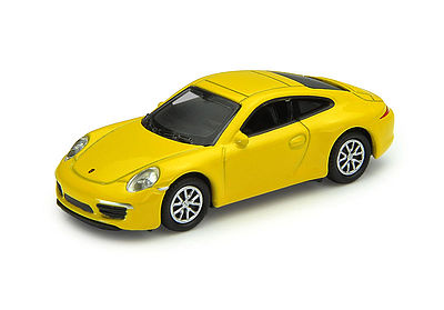 Atlas Porsche 911 Carrera S Yellow -- HO Scale Model Railroad Roadway Vehicle -- #30000096