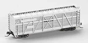 Atlas 40 Stock Car - Assembled - Undecorated N Scale Model Train Freight Car #3520