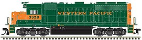 Atlas EMD GP40 Low Nose with Dynamic Brakes - LokSound and DCC - Gold Western Pacific 3528 (Late, green, orange) - N-Scale