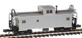 Atlas Standard Cupola Caboose - Ready to Run Undecorated N Scale Model Train Freight Car #43000