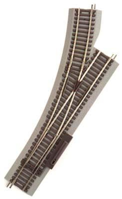 Atlas Remote Switch Left True-Track -- HO Scale Nickel Silver Model Train Track -- #480