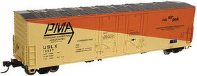 Atlas Evans 53 Double Plug-Door Boxcar Plywood Marketing N Scale Model Train Freight Car #50001404
