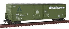 Atlas Evans 53 Double Plug-Door Boxcar Weyerhaeuser USLX N Scale Model Train Freight Car #50001422