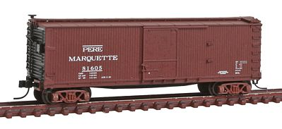 Atlas USRA Double-Sheathed Boxcar Pere Marquette #81605 -- N Scale Model Train Freight Car -- #50001482