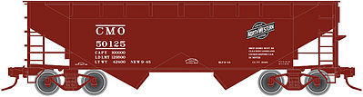 Atlas 2-Bay Offset-Side Hopper CMO -- N Scale Model Train Freight Car -- #50001636