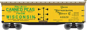 Atlas 40 Wood Reefer Wisconsin Canners Association #40625 N Scale Model Train Freight Car #50001756