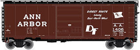 Atlas P-S PS-1 40 Boxcar w/8 Door Ann Arbor N Scale Model Train Freight Car #50001759