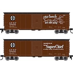 Atlas USRA Steel Boxcar ATSF #148847 -- N Scale Model Train Freight Car -- #50002333